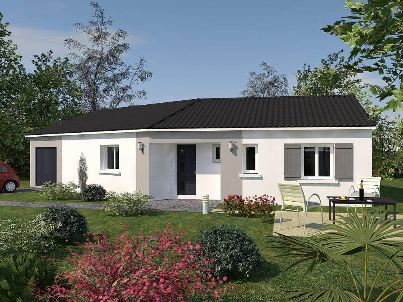 Tarif construction maison contemporaine plain pied au for Tarif maison construction
